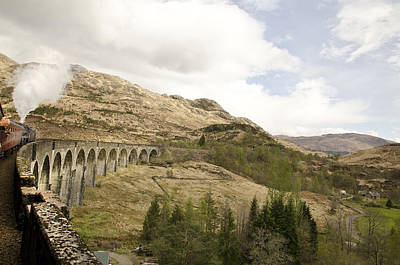 Photograph - Glenfinnan Train Viaduct Scotland by Sally Ross