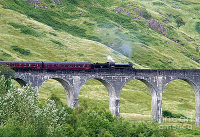 Photograph - Glenfinnan Viaduct - Engine 62005 by Phil Banks