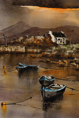 Eire Painting - Glengarriff Sunset West Cork by Val Byrne