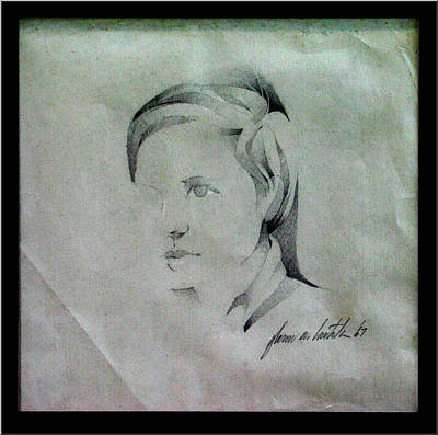 Drawing - Glenn 1967 by Glenn Bautista
