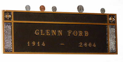 Photograph - Glenn Ford Grave Marker by Jeff Lowe