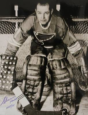 Hockey Photograph - Glenn Hall Poster by Gianfranco Weiss