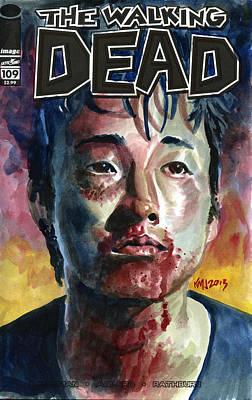 Television Painting - Glenn Walking Dead by Ken Meyer
