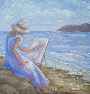 Art Print featuring the painting Glennabythesea by Glenna McRae