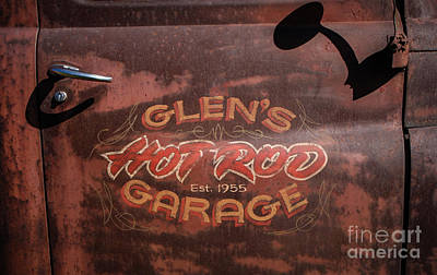 Photograph - Glen's Hot Rod Garage by Grace Grogan