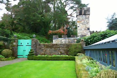 Photograph - Glenveagh Garden Gate by Charlie and Norma Brock