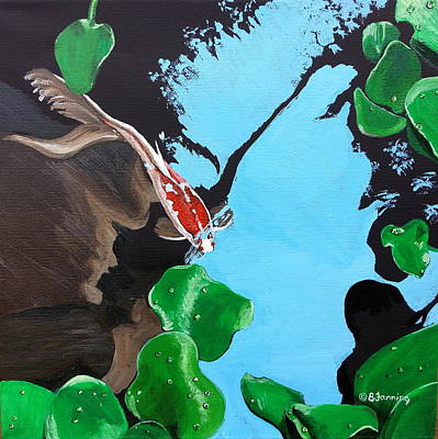 Painting - Glide by Brenda Stevens Fanning