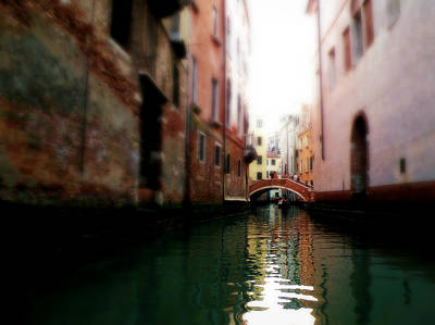 Gliding Along The Canal  Art Print