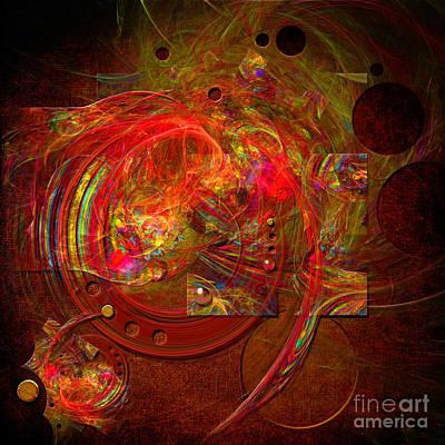 Digital Art - Glimmer Of Dials by Alexa Szlavics