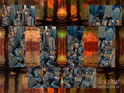 Citylife Digital Art - Glimmering Surmises In City by Ha Imako