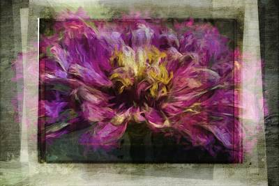 Photograph - Glimpse Of A Dahlia Textured by Alice Gipson