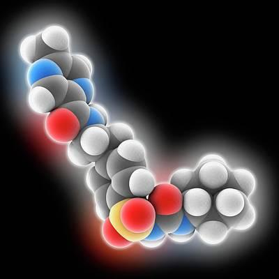 Glipizide Drug Molecule Art Print by Laguna Design