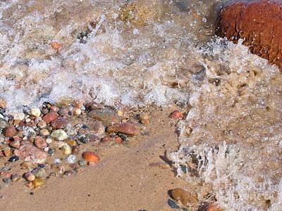 Winter Animals - Glistening Stones Awash by Ann Horn