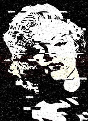 Glitch Art Marylin Monroe Art Print
