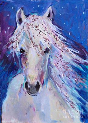 Glitter Horse Art Print by Diane Ursin