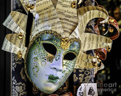 Photograph - Glittering Venetian Mask by Phil Cardamone
