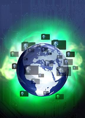 Data Photograph - Global Data Protection by Victor Habbick Visions