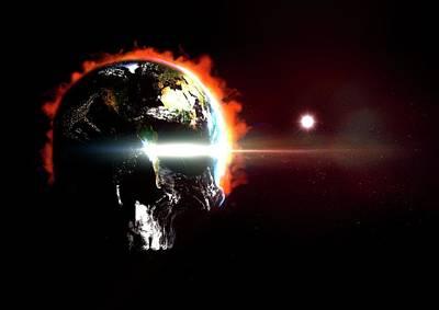 Armageddon Photograph - Global Destruction by Animate4.com/science Photo Libary