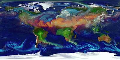 Global Dust Levels Print by William Putman/nasa Goddard Space Flight Center