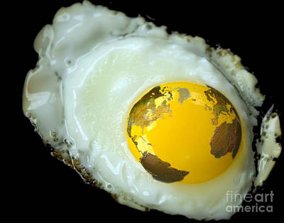 Digital Imaging Photograph - Global Egg by Mike Agliolo