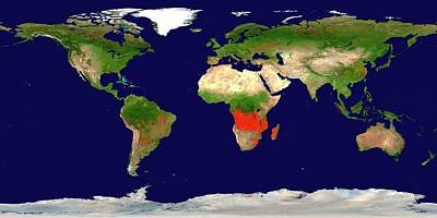 Wildfire Photograph - Global Fire Map by Nasa