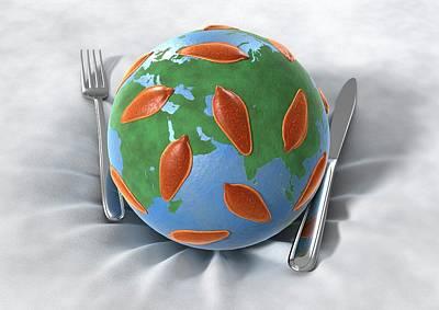 Global Food Infection Art Print