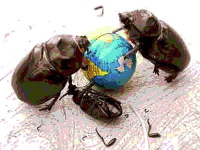 Global Harming Art Print by Joe Jake Pratt