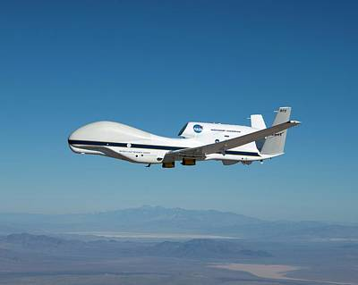In Flight Photograph - Global Hawk Unmanned Aerial Vehicle by Nasa/tom Miller
