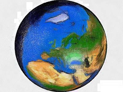 Painting - Globe 3d Picture by Georgi Dimitrov