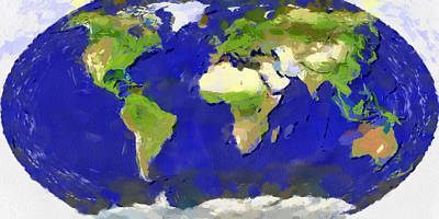 Painting - Global Map Painting by Georgi Dimitrov