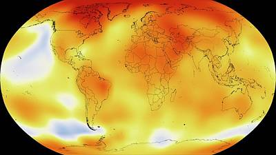 Visualisation Photograph - Global Temperature Rise From 1950-2013 by Nasa/gsfc