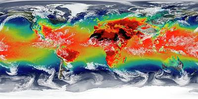 Global Temperatures Print by William Putman/nasa Goddard Space Flight Center