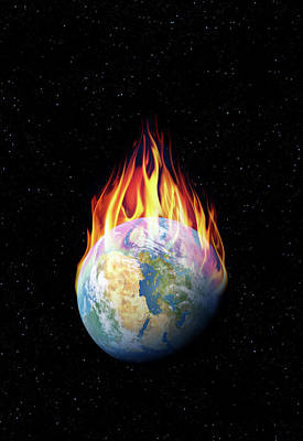 Armageddon Photograph - Global Warming by Detlev Van Ravenswaay