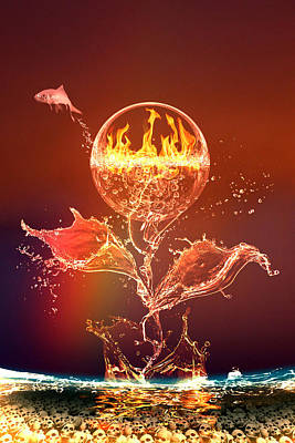 Global Awareness Digital Art - Global Warming by Fabricio Rios