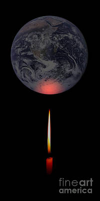 World Changing Digital Art - Global Warming by Mim White