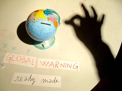 Global Warning - Ready Made Original by Veronika Ban