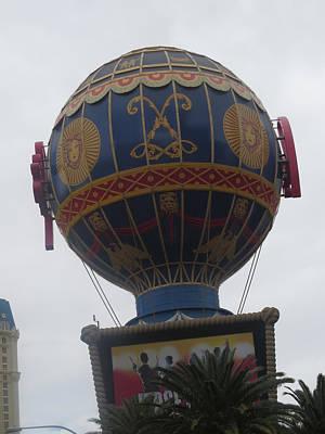 Photograph - Globe Next To Replica Effel Tower Las Vegas by Navin Joshi
