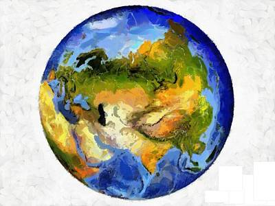 Painting - Globe World Map by Georgi Dimitrov