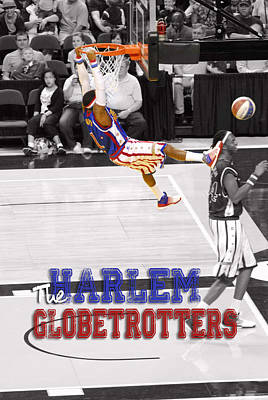 Harlem Wall Art - Digital Art - Globetrotters Super Slam by Robert Saunders Jr