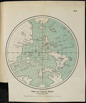 Cartography Photograph - Globus Des Johannes Schoner by British Library
