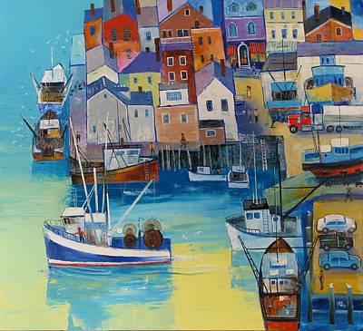 Painting - Gloucester Shipyard by Mikhail Zarovny