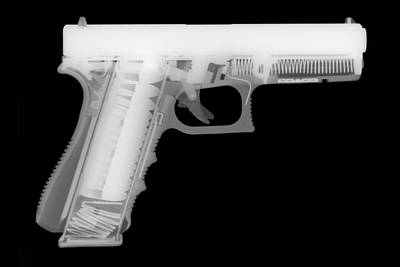 X Ray Photograph - Glock G17 Reverse by Ray Gunz