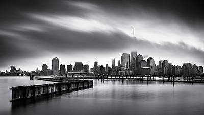 Classic Golf - Gloomy Day for the Financial District by Mihai Andritoiu