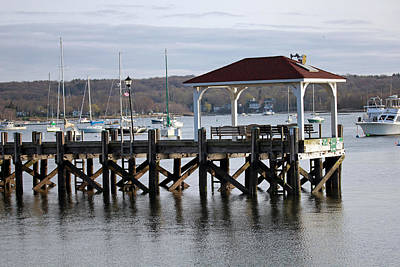 Gloomy Day Northport Dock Long Island New York Art Print