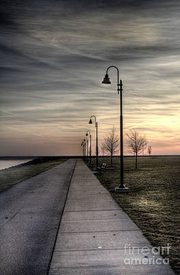 Photograph - Gloomy Walkway by Jim Lepard