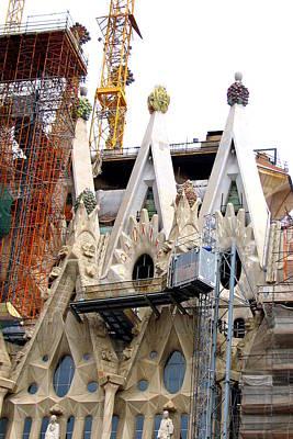 Photograph - Gloria Facade Of La Sagrada Familia In Barcelona by Carla Parris