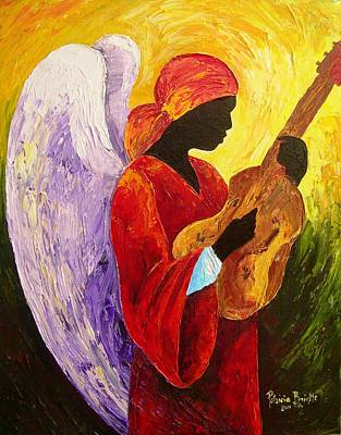Guitar Angels Painting - Gloria In Excelcis Deo by Patricia Brintle