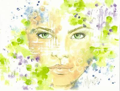 Eyes Mixed Media - Gloria by P J Lewis