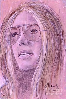 Gloria Steinem Art Print by P J Lewis