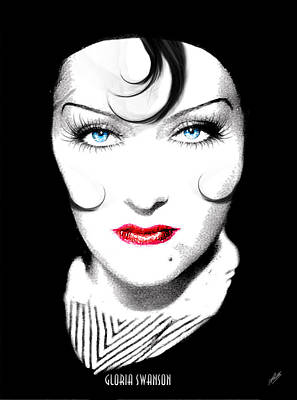 Gloria Drawing - Gloria Swanson - Coco Chanel by Quim Abella